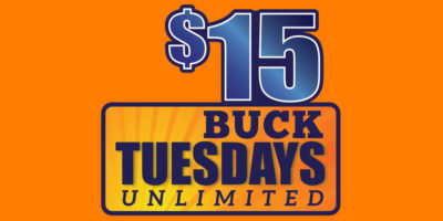 $15 Buck Tuesday Special at Wonderland