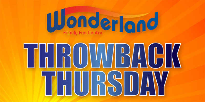 Throwback Thursday Special at Wonderland